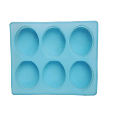Silicone Soap Mold 150gms Oval 6 Cavities