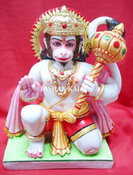Beautiful White Marble Hanuman Statue