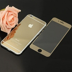 Iphone S6 Glass Gold 2 In 1 Cover