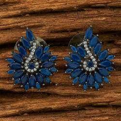 AD Stone Classic Stud Earring - 70162