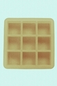 75gms - Square - 9Cavities - Silicone Soap Mold