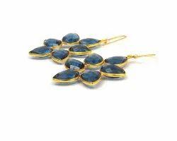 Iolite Quartz Gemstone Earring
