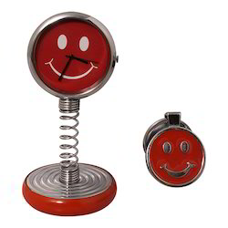 Circle Shape Smiley Clock With Smiley Decorative Gift Item