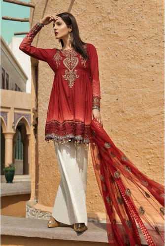 3b4ab96a921 Pakistani Suits - Cotton Embroidery Suit Manufacturer from Surat