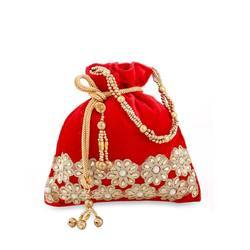 Velvet Embroidery Potli Bag