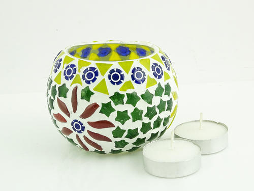 Glass Candle Holder Votives Or Candle Stands Brahmz Glass Mosaic Candle Votive Candle Holder
