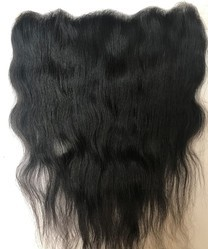Transparent Lace Frontals With Temple Raw Indian Hair, Lace Closure With Fine Knotting