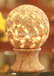 Stone Candle Lamp