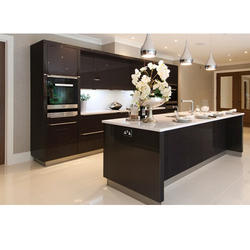 Island Straight Designer Kitchen