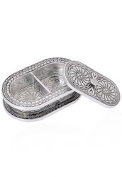 Metal Work Oxidised Silver Decorative Wooden Boxes