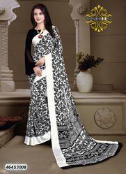 Stylish Floral Print Saree