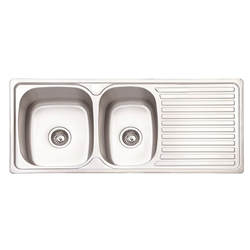 Stainless Steel Double Bowl Sinks - Steel Kitchen Sink Mini Bowl ...