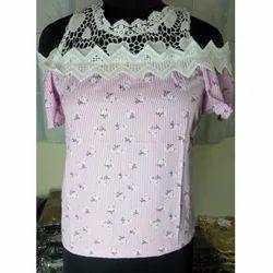 Pink Cold Shoulder Top