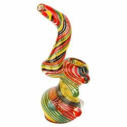 Glass Smoking Bubbler Collectibles Rasta Bubbler 8 Inch
