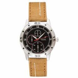 Vespl Casual Analogue Black Dial Men's Watch (VW1002)