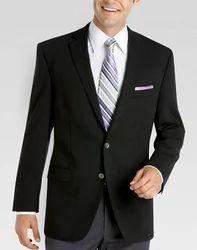 Mens Black Plain Corporate Black Blazer, Size: S, M & L