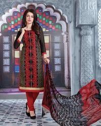Unstitched Cotton Designer Suit