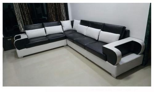 Black And White L Shape Sofa Cu9rm9ag