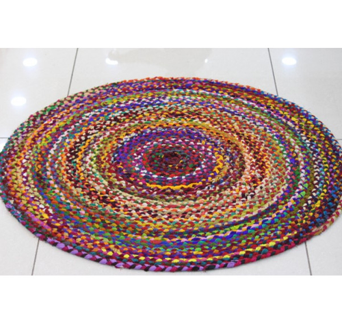 Rugs Gupta Creations Multicolored Round Rug Ecommerce Shop