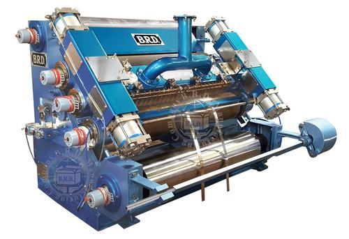 Pneumatic Fingerless High Speed Single Face Corrugation Machine