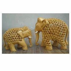 Under Cutting Wooden Elephant