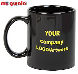 Corporate Logo Printed Black Coffee Mug