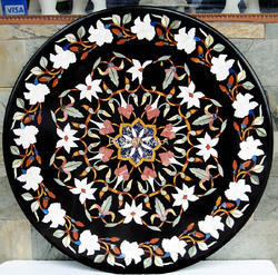 Decorative Stone Flower Inlay Table Top