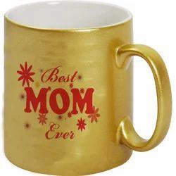 Gold Color Ceramic Mug