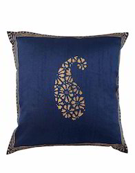 Polydupion Paisley Golden Hand Block Printed Cushion Covers