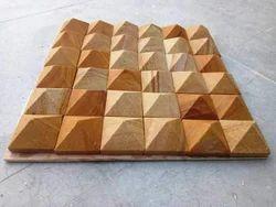 Teakwood sandstone Mosaic cladding tiles