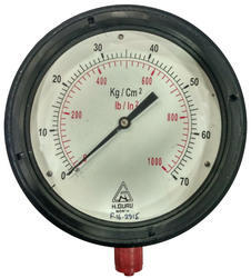 H.GURU 150MM Weatherproof Pressure Gauge, Bottom/ Back Mount