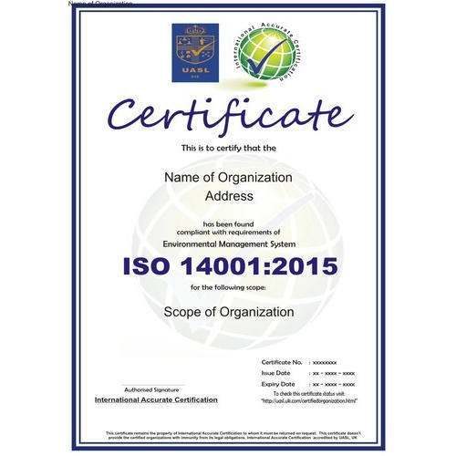 ISO 14001 2015 Certification Service - ISO 14001:2015 Certification ...