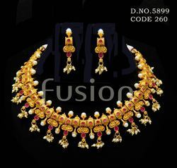 Pearl Choker South Indian Necklace Set