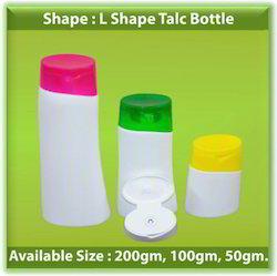 L Shape Talc Bottle