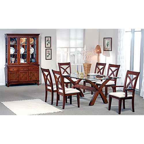 dining table 6 seater dining table chairs manufacturer from ahmedabad - Teak Wood Dining Table