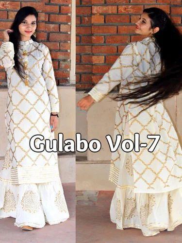 f2f11d86a8 Kurti Plazzo - Gulabo 07 Kurti With Sharara Wholesaler from Delhi