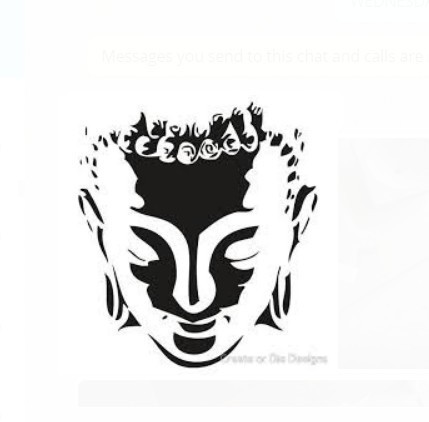 Buddha black and white art