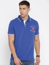 Trendy Blue Men Polo T Shirt