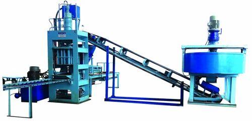 Hydraulic Pressure Fly Ash Bricks & Paver Block Making Machine Model-(SVCBM- 8/6)