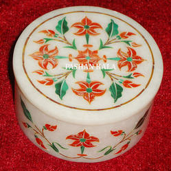 Pietra Dura Marble Box