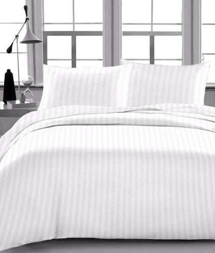 400 Tc Bed Sheet Satin Stripe 1cm