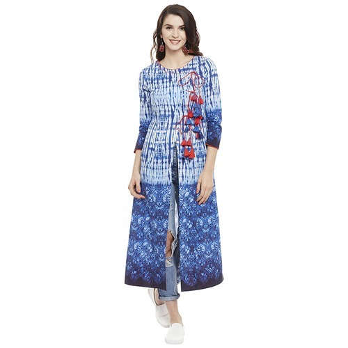 Nspl kurti manufacturer in jaipur and designer cotton for Floor length kurti