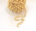 Pyrite Gold Plated Chain