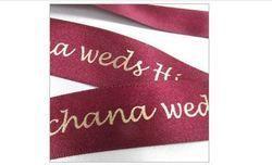Wedding Ribbons Personalised