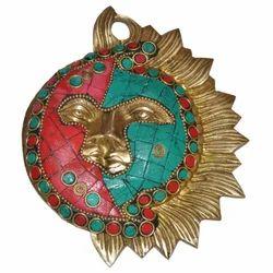 Brass Sun With Stone Work