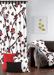 Flower Design Printed Home Curtain