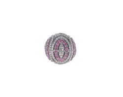 Pave Diamond Ruby Ball Findings