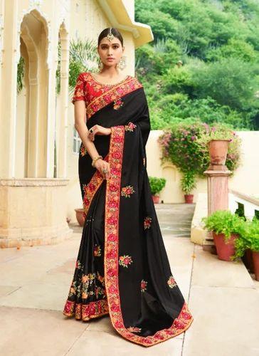 f292f5c0a3679a Ladies Bridal Silk Saree - Bridal Saree Fancy Fabric Border Work Party Wear  Saree Manufacturer from Surat