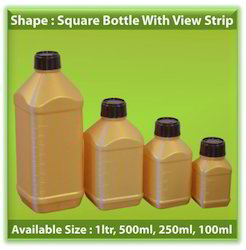 Square Bottle With View Strip
