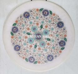 Round Marble Inlay Plates